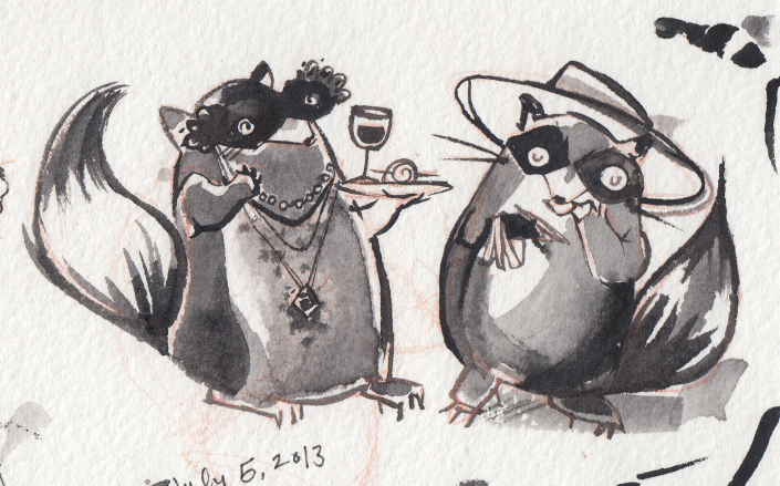 Raccoons.Mascarade.Talking